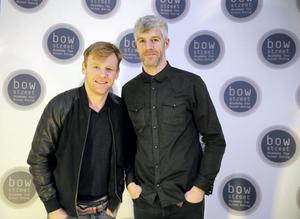 Brian Gleeson and Kieran O'Reilly at the opening of the Bow Street Academy for Screen Acting, Smithfield. Picture:Arthur Carron