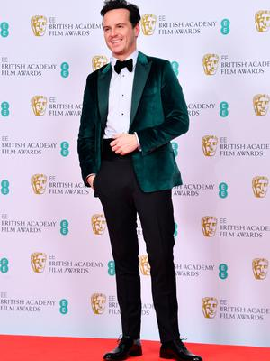 Andrew Scott poses in the Winners Room during the EE British Academy Film Awards 2020 at Royal Albert Hall on February 02, 2020 in London, England. (Photo by Gareth Cattermole/Getty Images)