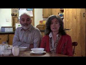 Monica O'Connor with her husband Eddie O'Neill Pic: Dylan Vaughan