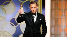 "Tom Hiddleston accepts the award for Best Actor - Limited Series or Motion Picture for TV for his role in ""The Night Manager"" onstage during the 74th Annual Golden Globe Awards at The Beverly Hilton Hotel on January 8, 2017 in Beverly Hills, California. (Photo by Paul Drinkwater/NBCUniversal via Getty Images)"