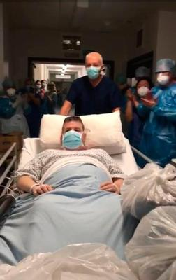 Niall Murphy pictured as he left ICU
