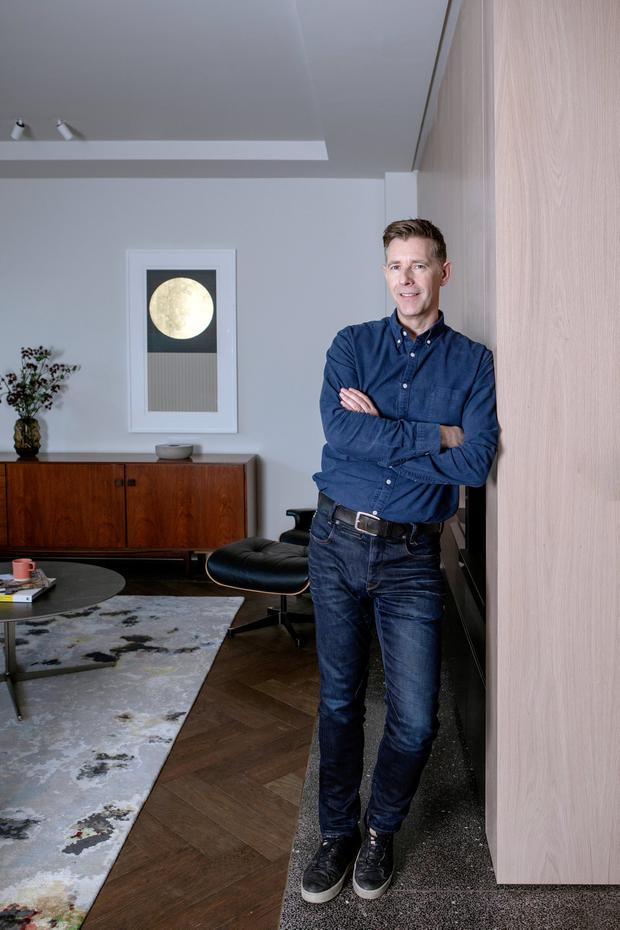Living the dream: 'Room to Improve' host Dermot Bannon settles into the Drumcondra home that he has always wanted
