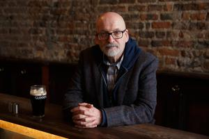 Author's gaze: Booker Prize winner Roddy Doyle takes a reflective look at men and middle age in his latest novel, Love. His 2017 novel Smile dealt with sexual abuse in Catholic schools, while Paddy Clarke Ha Ha Ha won the Booker Prize in 1993. Photo: Fran Veale