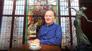 ON WITH THE SHOW: Artist and businessman Paddy Campbell in Bewley's cafe on Grafton Street, Dublin. Photo: Leon Farrell/Photocall Ireland