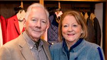 Gay Byrne and Kathleen Watkins. Photo: Anthony Woods.