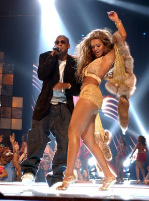 Jay-Z and Beyonce Knowles at the 2010 MTV Awards