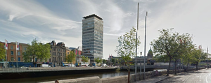 Burgh Quay, close to where the incident happened