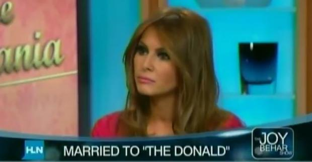 Melania Trump questioning Barack Obama's birthplace in a 2011 interview with Joy Behar