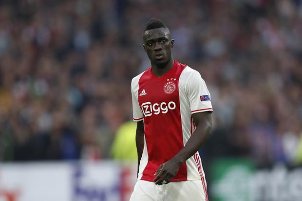 Davinson Sanchez of Ajax during the UEFA Europa League semi final match between Ajax Amsterdam and Olympique Lyonnais at the Amsterdam Arena on May 03, 2017 in Amsterdam, The Netherlands(Photo by VI Images via Getty Images)