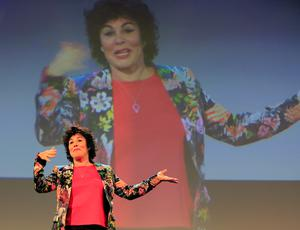 Comedienne Ruby Wax delivers her presentation 'How to be Human'. Photo: Gerry Mooney