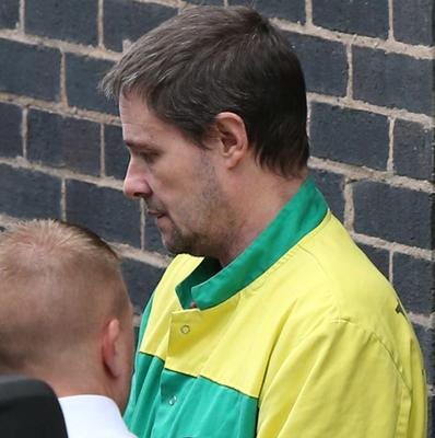 Mark Bridger leaves Mold Crown Court after he was given a life sentence for the abduction and murder of schoolgirl April Jones