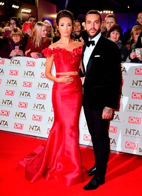 Megan McKenna and Pete Wicks arriving at the National Television Awards 2017, held at The O2 Arena, London.