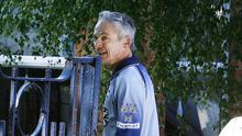 Fitness fan: Richard Bruton out for a jog near his home in 2010. Picture: Kyran O'Brien