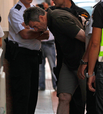 Christy Kinahan is led into court in Estepona, on                   the Costa del Sol, in May 2010