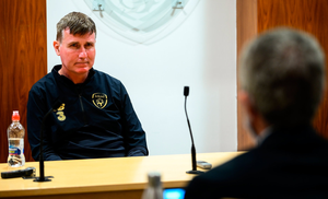 Stephen Kenny during a press conference at FAI Headquarters in Abbotstown, Dublin. Photo: Stephen McCarthy/Sportsfile