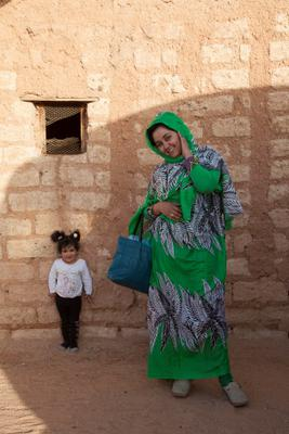 Jadija Salic photographed at Auserd Refugee Camp, Sahara.  Picture: Clare Keogh