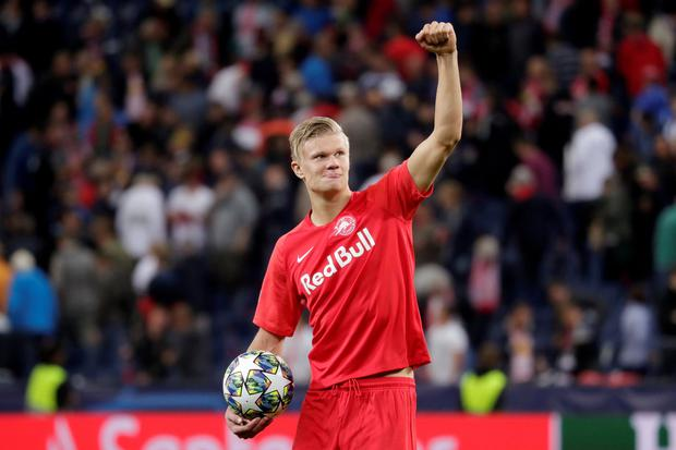 Norway striker Erling Braut Haaland signed a contract that ties him to Dortmund until June 2024. Photo: REUTERS