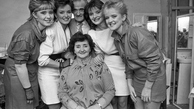 FAMILY AFFAIR: Four of the Nolan sisters with their parents Tommy and Maureen. The sisters have sold around 30 million albums worldwide.