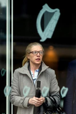 Garda Catherine McGowan at Dublin Circuit Criminal Court where she has been acquitted of forging a letter from the DPP in relation to the investigation of a priest accused of sexual abuse Pic: Collins Courts