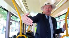 Transport Minister Shane Ross managed to get back on the right track yesterday for the testing of the Luas line in Dublin