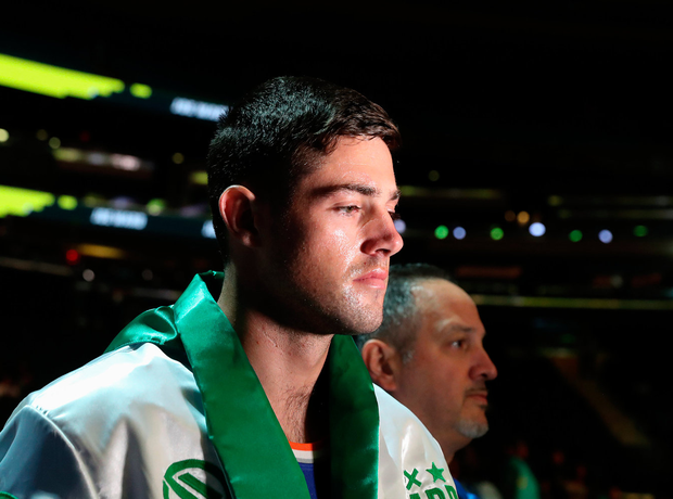 Setback: Joe Ward. Photo by Ed Mulholland/Matchroom Boxing USA via Sportsfile