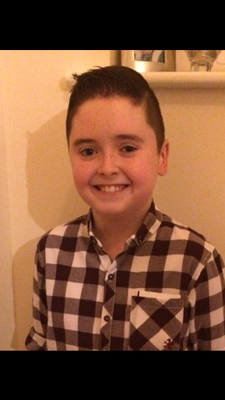 Jamie King (13) pictured before he was diagnosed with a brain tumour in June 2014