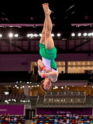 Kieran competing in the 2015 European Games in Baku, Azerbaijan, at the weekend