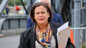 Challenges: Sinn Féin leader Mary Lou McDonald was critical of the policy. Picture: Frank McGrath