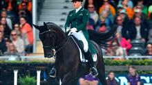 Heike Holstein of Ireland riding Sambuca competes during Day 1 of the Dressage Grand Prix Team Competition at the Longines FEI European Championship presented by Rabobank at Foundation CHIO on August 19, 2019 in Rotterdam, Netherlands. Photo: Dean Mouhtaropoulos/Getty Images for FEI