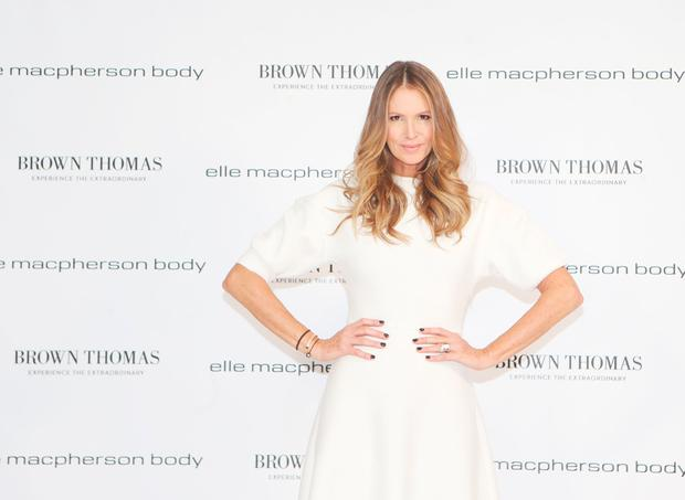 launched her new lingerie brand Elle Macpherson Body at Brown Thomas Grafton Street. Picture: Leon Farrell/Photocall Ireland
