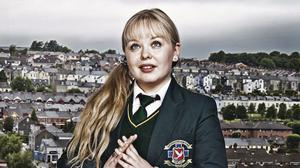 Nicola Coughlan in her Derry Girls role for Channel 4