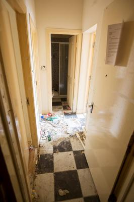 Inside 3 Kellys Row (at the rear of 20 Lr. Dorset St).  Dublin City Council sought an evacuation order for the property.