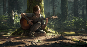 Ellie is a killing machine but in this moment she plucks on a guitar and our heartstrings