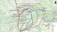 Options for the different routes for Mallow's proposed relief road