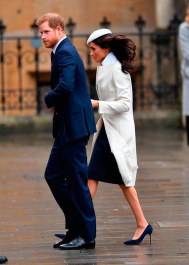 Prince Harry and Meghan Markle, arrive for the Commonwealth Service at Westminster Abbey, London