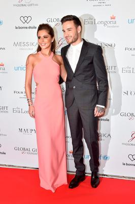Cheryl Fernandez-Versini and Liam Payne attend the Global Gift Gala Photocall at the Hotel Georges V on May 09, 2016 in Paris, France