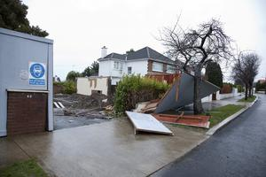 Damage at Hainault Road, Foxrock, Dublin. Collins Photo: Michael Donnelly.