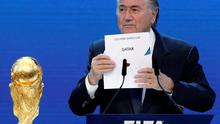 FIFA president Sepp Blatter announces Qatar as the host nation for the 2022 World Cup back in December 2010
