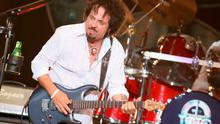 LOS ANGELES, CA - AUGUST 07:  Steve Lukather of Toto performs at The Greek Theatre on August 7, 2014 in Los Angeles, California.  (Photo by Oliver Walker/Getty Images)