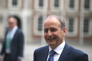 Taoiseach Micheal Martin traded verbal blows with Sinn Fein. Photo: Collins