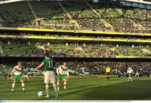 24 May 2011; A general view of the spectators during the game between the  Republic of Ireland and  Northern Ireland. Carling Four Nations Tournament, Republic of Ireland v Northern Ireland, Aviva Stadium, Lansdowne Road, Dublin. Picture credit: David Maher / SPORTSFILE
