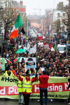 Thousands of people took to the streets of Dublin to protest and demand homes for all earlier this month
