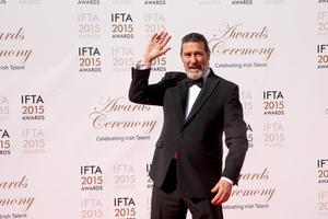 24/5/15 Ciaran Hinds pictured on the red carpet at the IFTA Awards at the Mansion House in Dublin. Picture: Arthur Carron