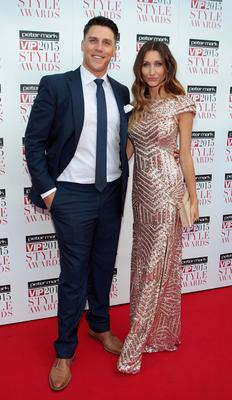 Peter and Stephanie O Riordan on the Red Carpet at The Peter Mark VIP Style Awards 2015 at The Marker Hotel, Dublin. Photo: Brian McEvoy