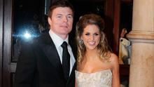 Brian O'Driscoll and Amy Huberman at the IFTAs in 2008