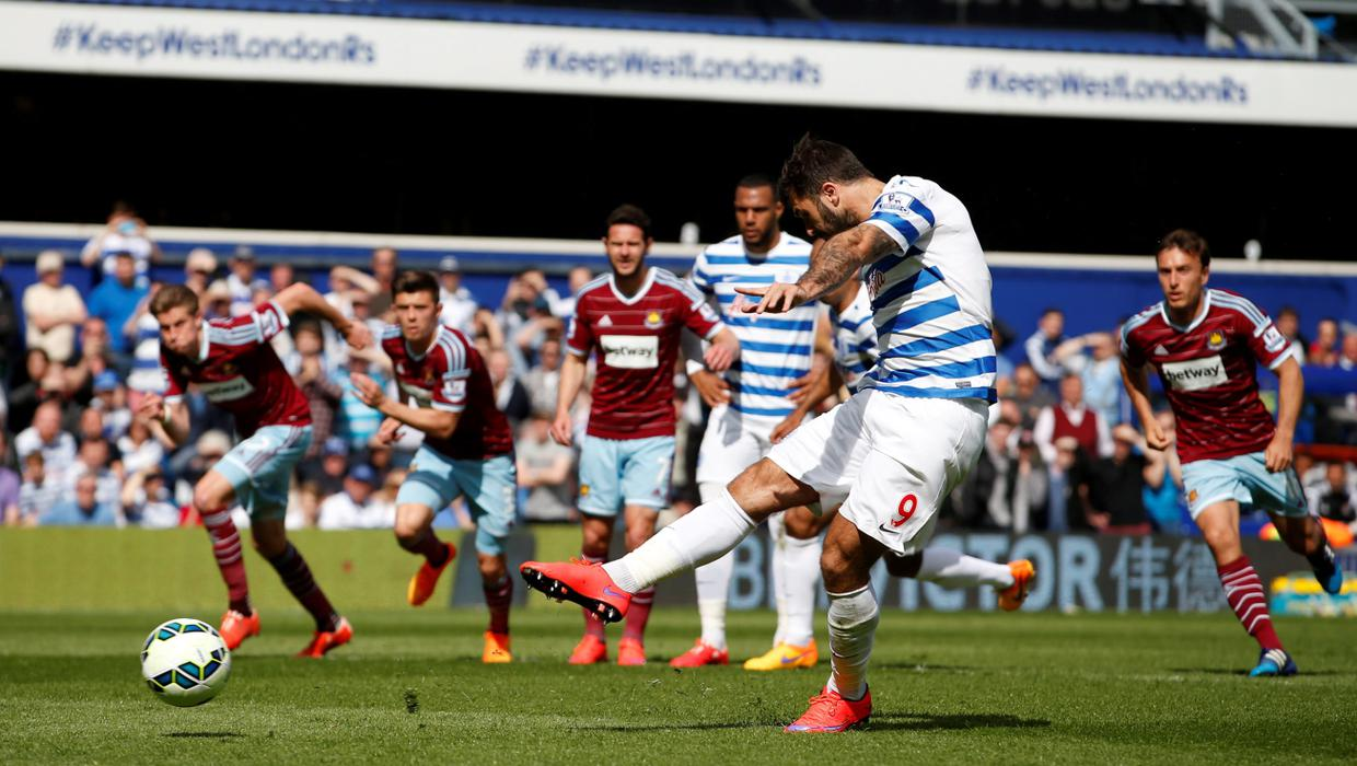 Charlie Austin Penalty Miss Could Prove Crucial As Qpr Settle For Point Against West Ham Independent Ie