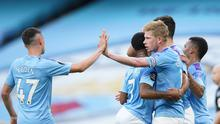 Kevin de Bruyne was man of the match as Man City thrashed Liverpool 4-0 at the Ethiad. Dave Thompson/Pool via REUTERS