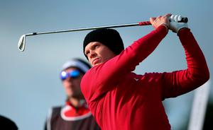 Danny Willett watches his tee shot on the 10th during day one of the Dubai Duty Free Irish Open at Royal County Down Golf Club, Newcastle.  Brian Lawless/PA Wire.