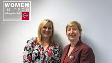 Samantha McCaughren, Business Editor of the Sunday Independent, pictured left, with Regina Moran, Enterprise Director with Vodafone Ireland