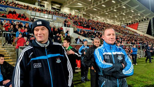 Dublin team manager Jim Gavin, right, with Dr David Hickey